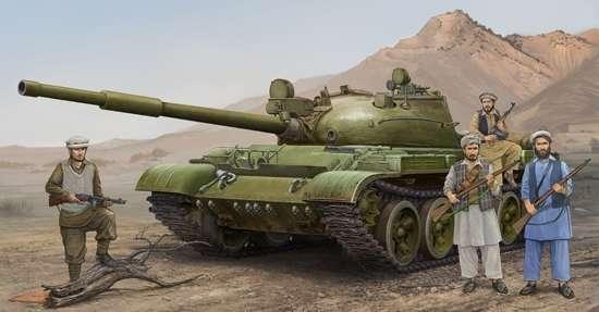 Czołg T-62 mod. 1975 (Mod.1962 + KTD2), plastikowy model do sklejania Trumpeter 01551 w skali 1:35