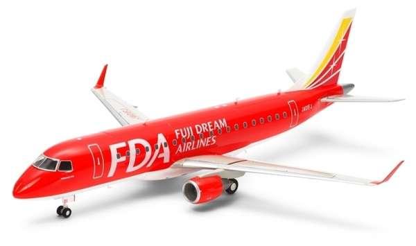 Brazylijski samolot pasażerski Embraer 175 eksploatowany przez FDA, plastikowy model do sklejania Tamiya 92197 w skali 1:100-image_Tamiya_92197_1