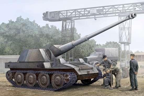 Niemieckie samobieżne działo Waffentrager , plastikowy model do sklejania Trumpeter 01598 w skali 1:35
