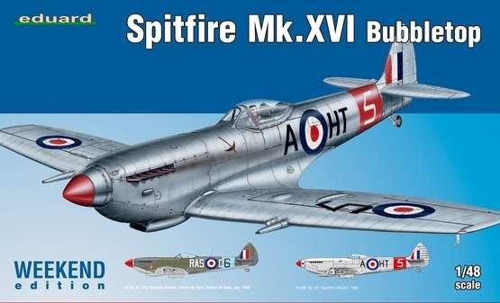 Brytyjski myśliwiec z okresu WWII Spitfire Mk.XVI Bubbletop, plastikowy model do sklejania