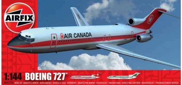 Samolot pasażerski Boeing 727 - Airfix 04177 plastikowy model do sklejania, model_airfix_04177_image_1-image_Airfix_A04177_1