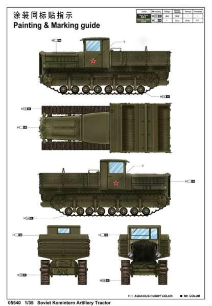 Trumpeter 05540 Soviet Komintern Artillery Tractor