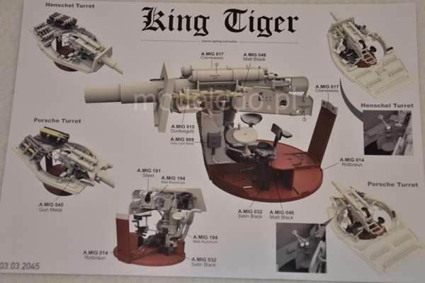 Takom 2046 King Tiger Porsche Turret w/Zimmerit