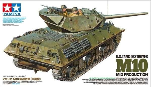 Niszczyciel czołgów M10 Wolverine, model Tamiya 35350 w skali 1:35.