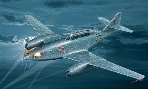 Niemiecki nocny myśliwiec Messerschmitt Me 262 B-1a/U1 Nachtjager, plastikowy model do sklejania Italeri 2679 w skali 1:48-image_Italeri_2679_1
