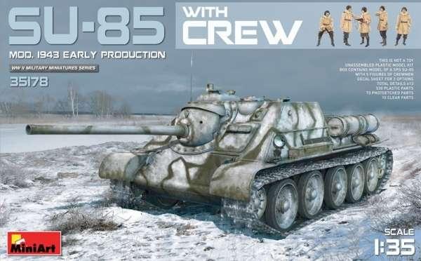Radzieckie średnie działo samobieżne SU-88 wraz z załogą, plastikowy model i figurki do sklejania MiniArt 35178 w skali 1:35.