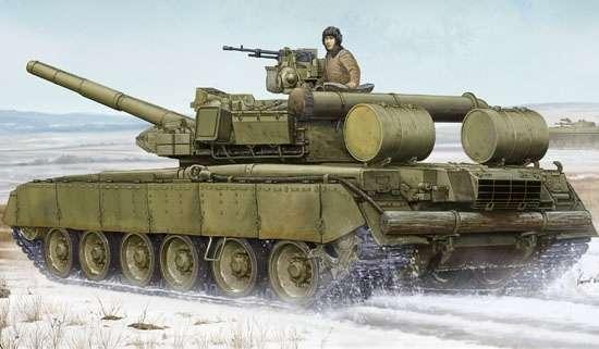 Rosyjski czołg T-80 BVD MTB , plastikowy model do sklejania Trumpeter 05581 w skali 1:35