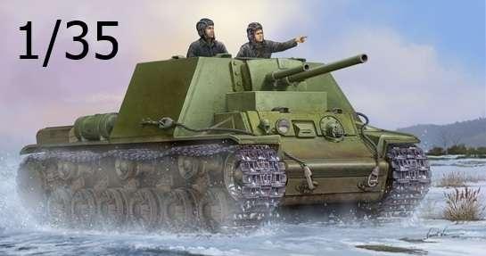 Radziecki ciężki czołg KW-7 Mod 1941, plastikowy model do sklejania Trumpeter 09503 w skali 1:35.
