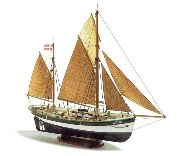 Kuter rybacki Dana , polistyrenowo drewniany model do sklejania Billing Boats BB200 w skali 1:60