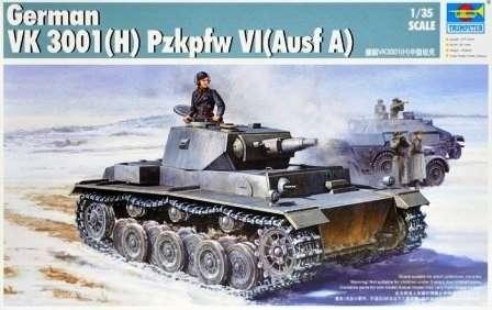 Niemiecki czołg VK3001(H) PzKpfw VI wersja A , plastikowy model do sklejania Trumpeter 01515 w skali 1:35