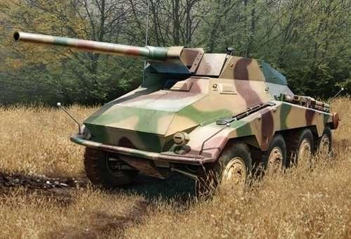 Niemiecki 8-kołowy ciężki samochód pancerny Sd.Kfz.234/4 z armatą 7.5cm L/48, plastikowy model do sklejania Dragon 6814 w skali 1/35.
