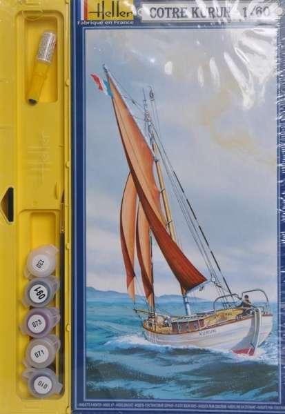 Zestaw modelarski - statek żaglowy Kurun , zestaw Heller 50614 w skali 1:60 z farbami, klejem i pędzelkiem