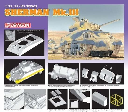 Dragon 6313 Czołg Sherman Mk.III
