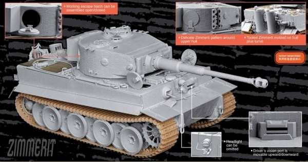 Dragon 6624 Tiger I Mid Production w/Zimmerit