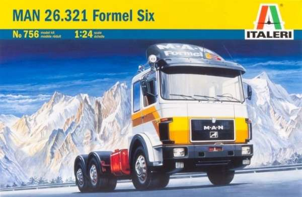 Ciężarówka MAN 26.231 Formel Six, plastikowy model do sklejania Italeri 756 w skali 1:24-image_Italeri_0756_1