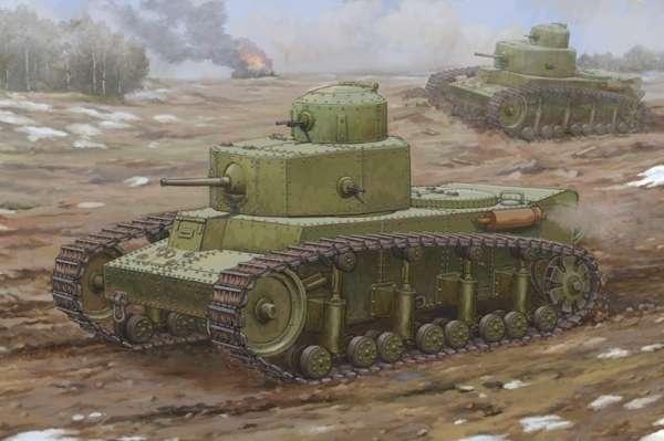 Radziecki czołg średni T-12 , plastikowy model do sklejania Hobby Boss 83887 w skali 1:35