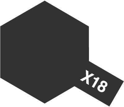X-18 Semi Gloss Black emalia 10ml Tamiya 80018