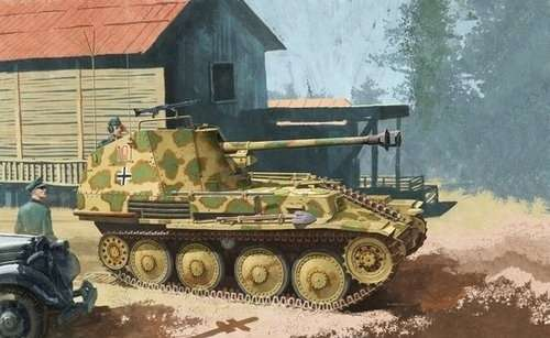 Niemiecki niszczyciel czołgów Befehlsjager 38 Ausf. M, plastikowy model do sklejania Dragon 6472 w skali 1:35.