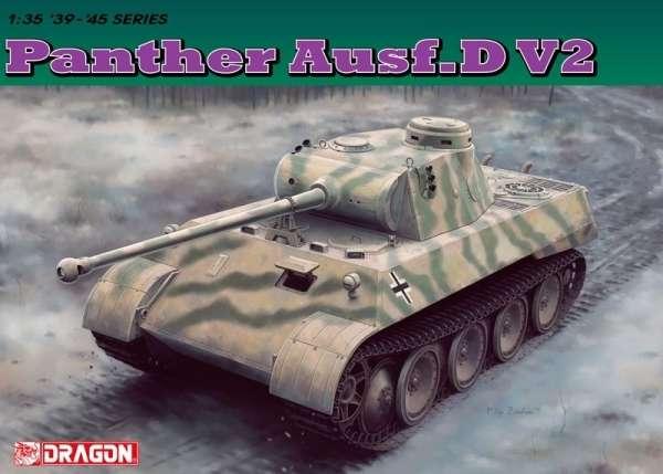 Czołg Panther ausf.D plastikowy model do sklejania w skali 1:35 firmy Dragon 6822.-image_Dragon_6822_1
