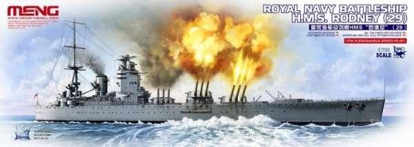 Brytyjski pancernik HMS Rodney (29), plastikowy model do sklejania Meng PS-001 w skali 1:700