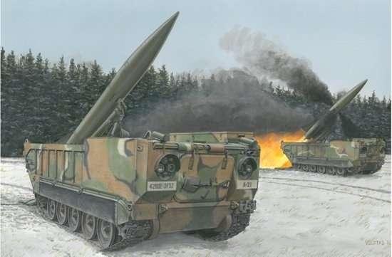 Taktyczna, samobieżna wyrzutnia rakiet balistycznych M652 , plastikowy model do sklejania Dragon 3576 w skali 1:35