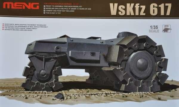 Niemiecki prototypowy pojazd torujący VsKfz 617, plastikowy model do sklejania Meng SS-001 w skali 1:35
