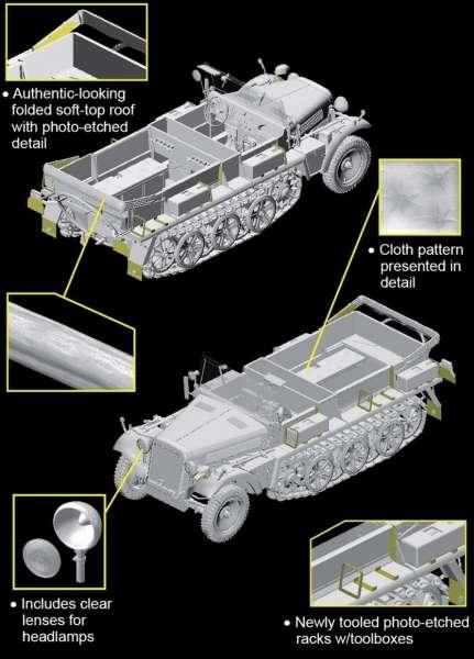 Dragon 6732 w skali 1:35 -model Sd.Kfz.10 Ausf.A w/5cm PaK 38 - image a