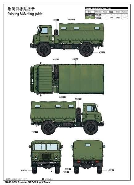 Trumpeter 01016 Russian GAZ-66 Light Truck I