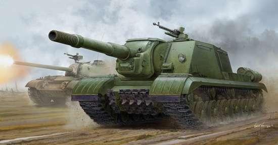 Radzieckie samobieżne ciężkie działo pancerne ISU-152K, plastikowy model do sklejania Trumpeter 05591 w skali 1:35