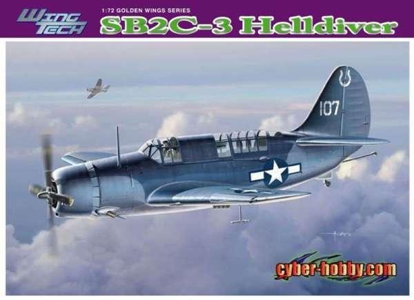 Amerykański bombowiec nurkujący Curtis SB2C-3 Helldiver, plastikowy model do sklejania Dragon 5059 w skali 1:72