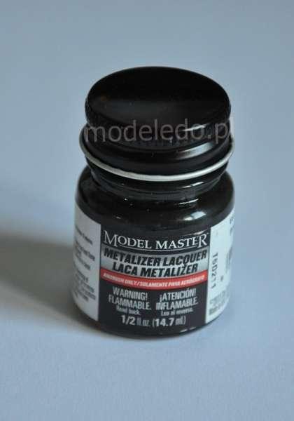 Modelarska farba Model Master 1405 w kolorze Gun Metal Metalizer o pojemności 14,7 ml.