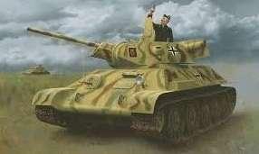 Czołg T34/76 z niemiecką kalkomanią, plastikowy model do sklejania Dragon 6449 w skali 1/35.