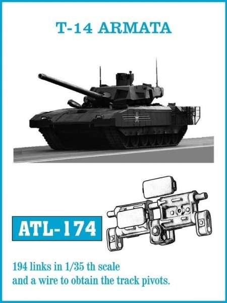 Metalowe gąsienice do modelu T-14 Armata w skali 1:35, Friulmodel ATL-174