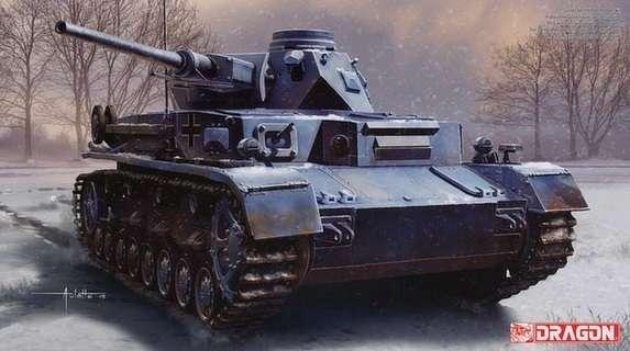 Niemiecki czołg średni  Pz.Kpfw.IV, plastikowy model do sklejania Dragon 6736 w skali 1:35.