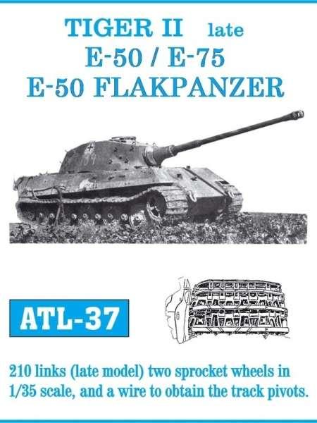 Metalowe gąsienice do modelu Tiger II late / E-50 / E-75 / E-50 Flakpanzer w skali 1:35, Friulmodel ATL-37