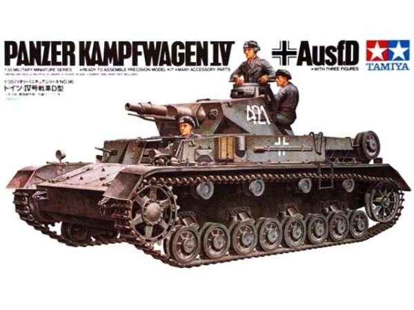 Niemiecki czołg Panzer IV wersja D, plastikowy model do sklejania Tamiya 35096 w skali 1:35.