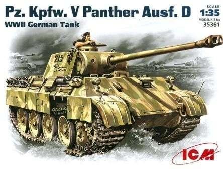Niemiecki czołg średni Pz.Kfpw. V Panther, plastikowy model do sklejania ICM 35361 w skali 1:35