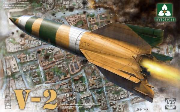 Niemiecki pocisk rakietowy V-2, plastikowy model do sklejania Takom 2075 w skali 1:35