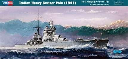 Włoski ciężki krążownik Pola (1941), plastikowy model do sklejania Hobby Boss 86502 w skali 1:350