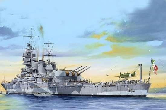 Włoski pancernik RN Roma , plastikowy model do sklejania Trumpeter 05318 w skali 1:350-image_Trumpeter_05318_1