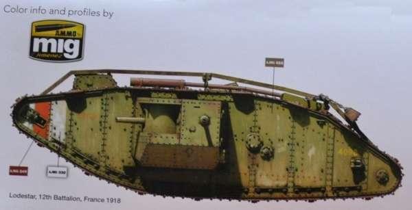 Brytyjski czołg ciężki Mark IV Takom 2076