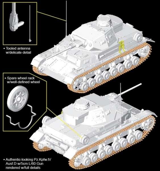Model do sklejania Dragon 6736 - Pz.Kpfw.IV Ausf.D w/5cm KwK L/60 model w skali 1:35 - image k