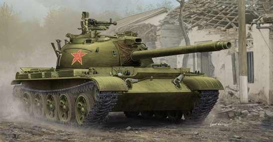 Chiński czołg lekki Typ 62, plastikowy model do sklejania Trumpeter 05537 w skali 1:35