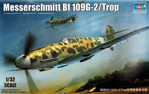 German WWII fighter Messerschmitt Bf109G-2/Trop model_do_sklejania_trumpeter_02295_image_1-image_Trumpeter_02295_1