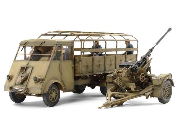 Wojskowa ciężarówka oraz działo 3,7cm FlaK 37 , plastikowy model do sklejania Tamiya 32410 w skali 1:35