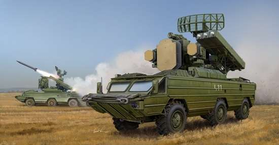 Samobieżny przeciwlotniczy zestaw rakietowy SA-8 Gecko, plastikowy model do sklejania Trumpeter 05597 w skali 1:35