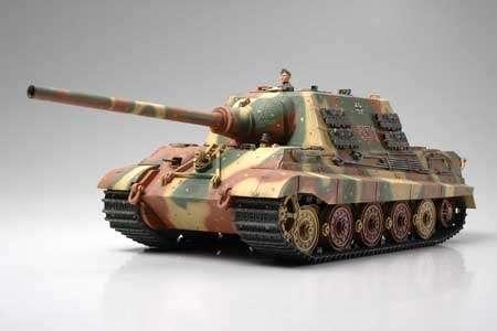 Niemieckie ciężkie działo pancerne Jagdtiger wczesna produkcja, plastikowy model do sklejania Tamiya 35295 w skali 1:35.