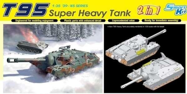 Amerykański super ciężki czołg prototypowy T95, plastikowy model do sklejania Dragon 6825 w skali 1:35