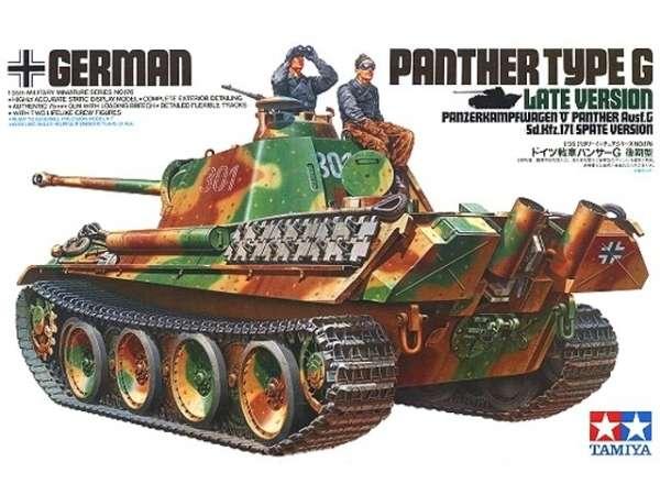 Niemiecki czołg Panther typ G późna wersja, plastikowy model do sklejania Tamiya 35176 w skali 1:35
