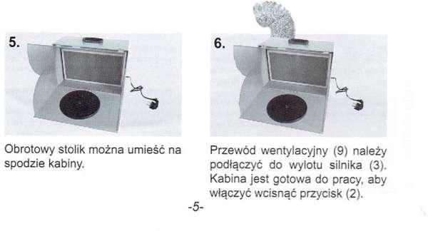 Komora lakiernicza AD-7000 - instrukcja przygotowania do pracy c.d.